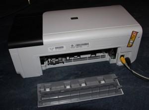 tintenstrahldrucker hp officejet 6000 offene papierstau klappe