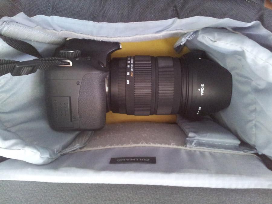 Foto mit 200er Objektiv Cullmann Fototasche ULTRALIGHT CP Maxima 300