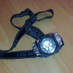 Kopf-Lampe mit LEDs von Eaxus