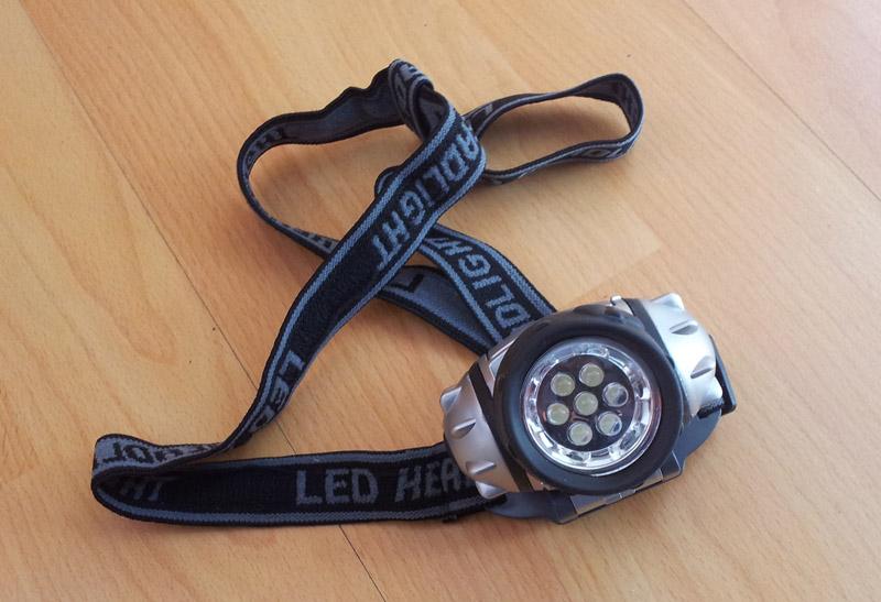 Stirn-Lampe mit LEDs von Eaxus
