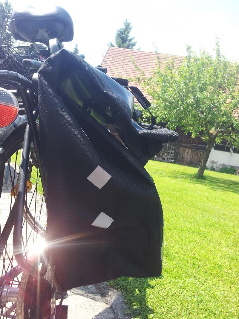 Fahrradtasche Reflektoren