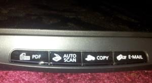Auto Tasten Canon LiDE 110 Scanner